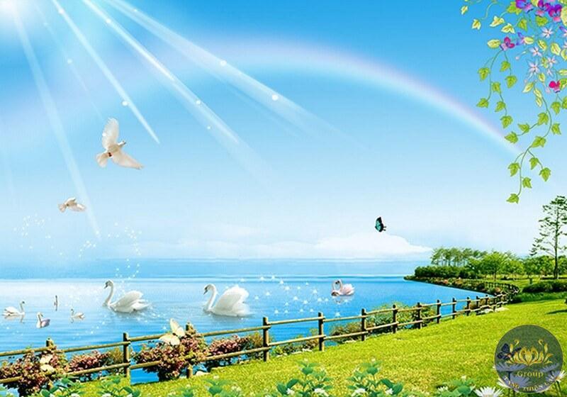 Tranh phong cảnh với chủ đề theo các mùa: mùa xuân, mùa hạ,....