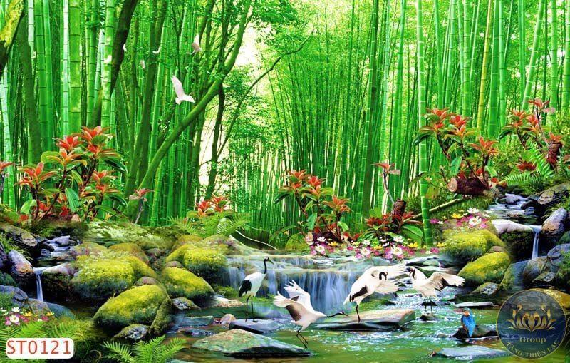 Tranh phong cảnh các trên thế giới: Nhật Bản với hoa anh đào, Pháp với tháp Eiffel, Hàn Quốc
