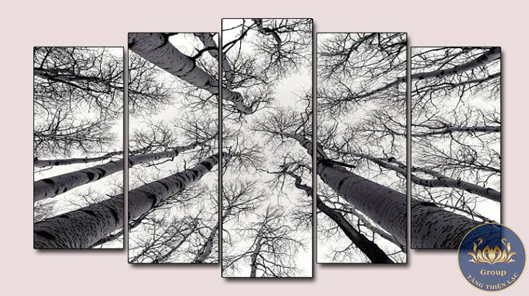 Tranh đen trắng nghệ thuật phong cảnh