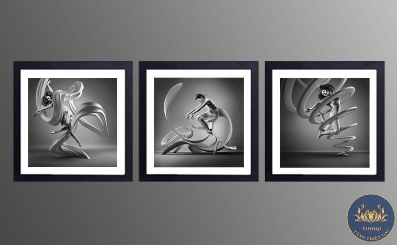 Tranh đen trắng nghệ thuật trừu tượng