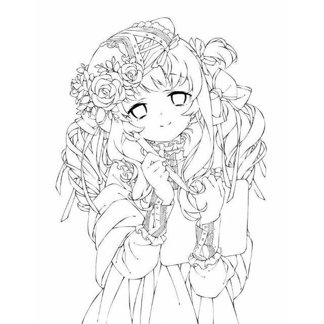 tranh tô màu anime girl chibi nam ngầu nữ 12 cung hoàng đạo dễ thương đẹp nhất