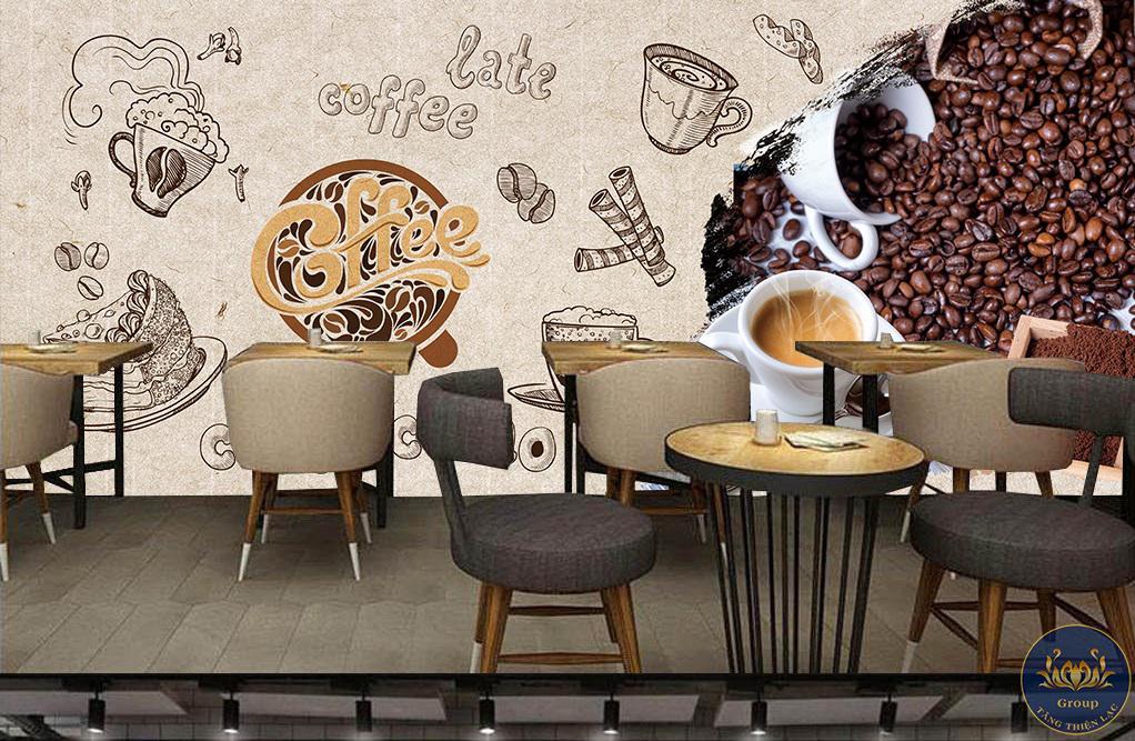 Tranh treo tường 3d quán cafe đẹp