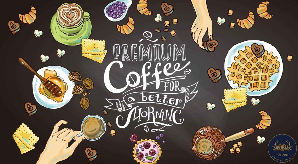 Tranh quán cafe trà sữa phải tạo được điểm nhấn riêng mới có thể thu hút khách hàng