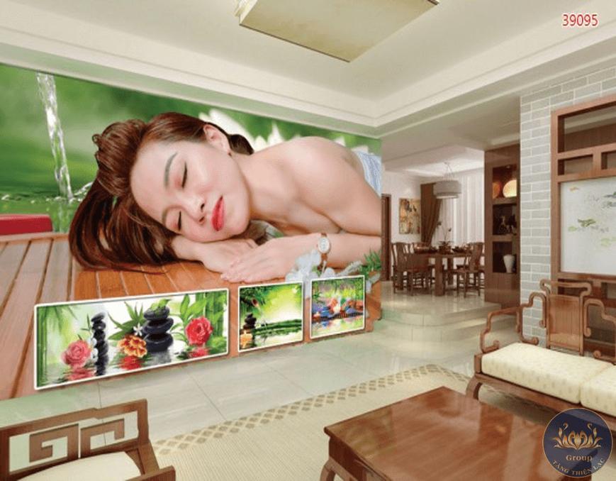 Tranh dán tường 3D spa