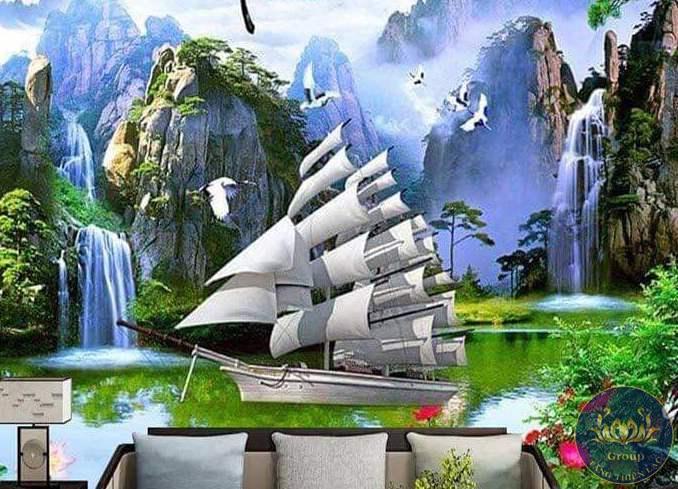 Tranh dán Tường 3D thuận buồm xuôi gió sẽ hợp theo một số hướng khác nhau