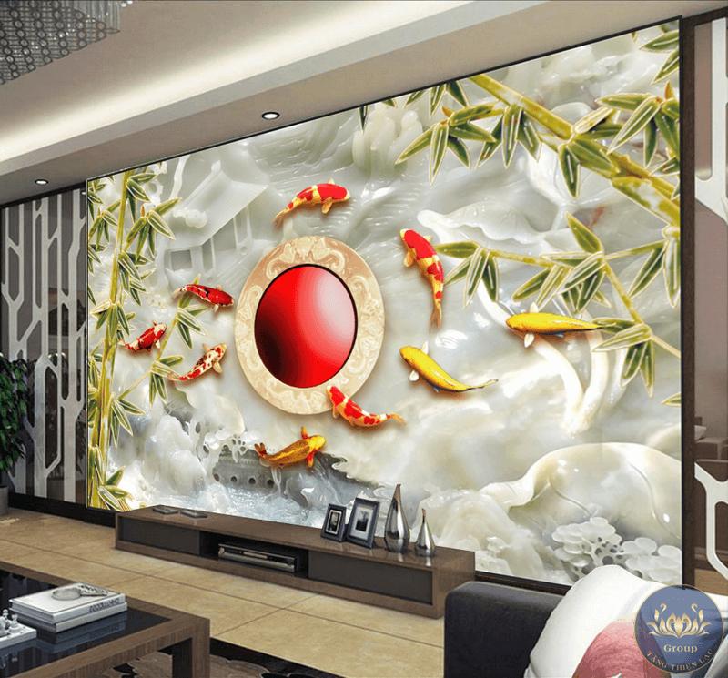 Tranh không chỉ được sử dụng để trang trí cho không gian ngôi nhà mà còn mang một ý nghĩa phong thủy