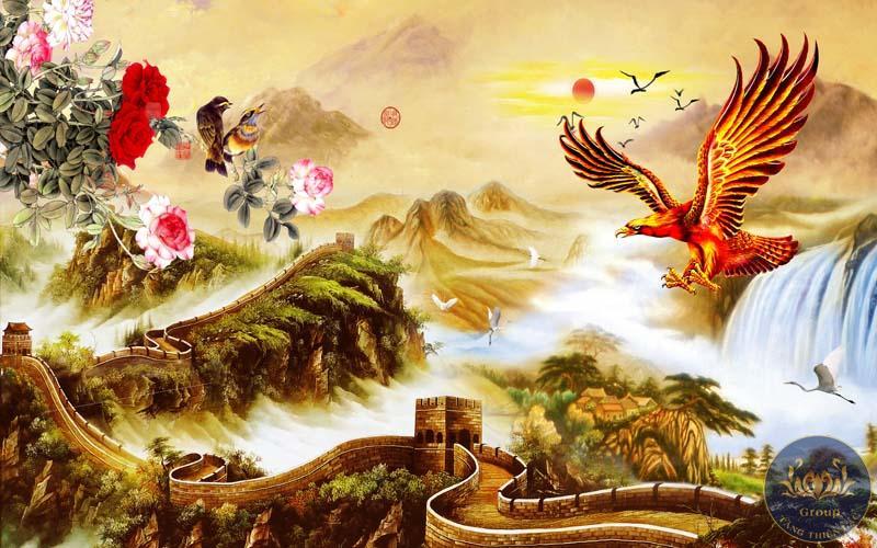 Tranh treo tường đại bàng đem lại nhiều may mắn thuận lợi cho chủ nhân