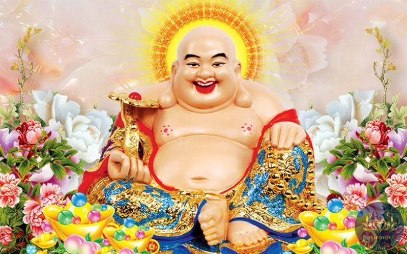 Tranh đính đá Phật Di Lạc an lại niềm vui và an lạc cho gia chủ