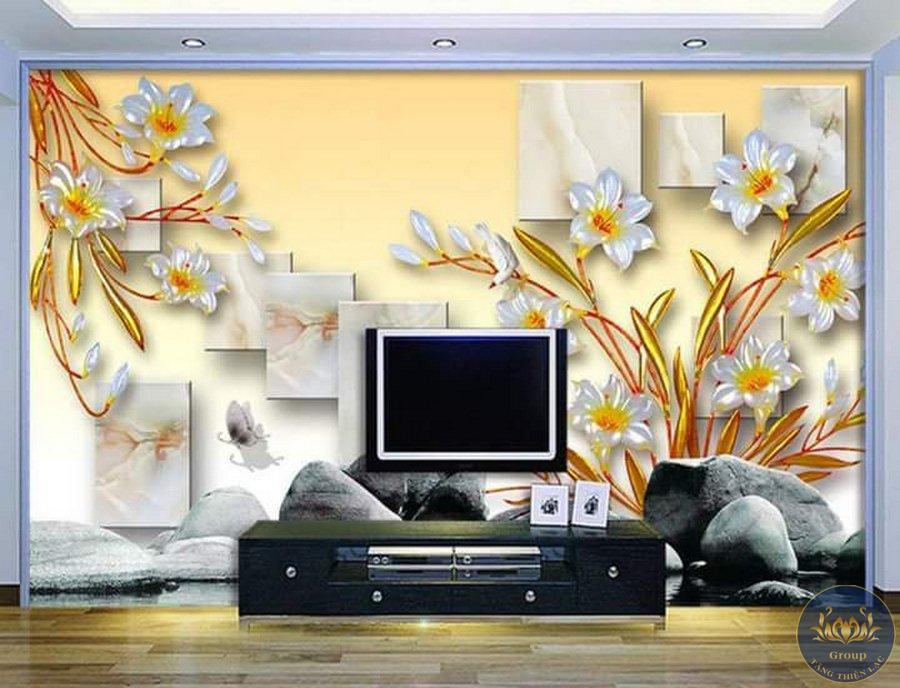 Tranh 3D tuổi tý nên thiết kế tranh màu trắng để hợp với gia chủ đón tài lộc vào nhà nhiều hơn