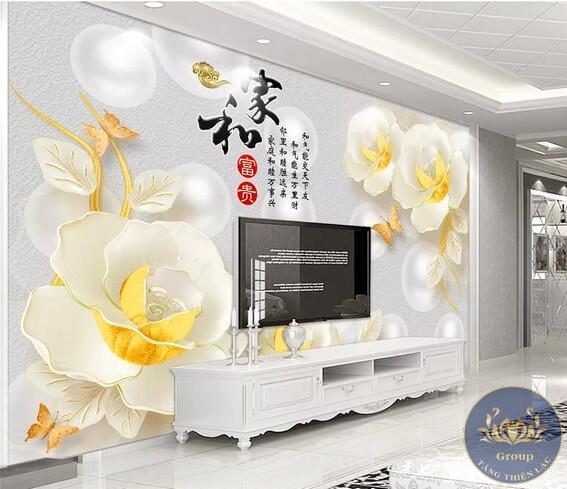 Tranh 3D phòng khách làm cho không gian sang trọng hơn