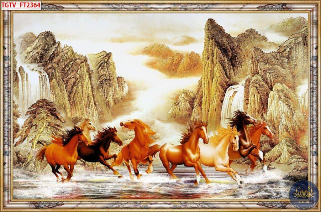 Tại sao lại chọn tranh mã đáo thành công 8 con ngựa