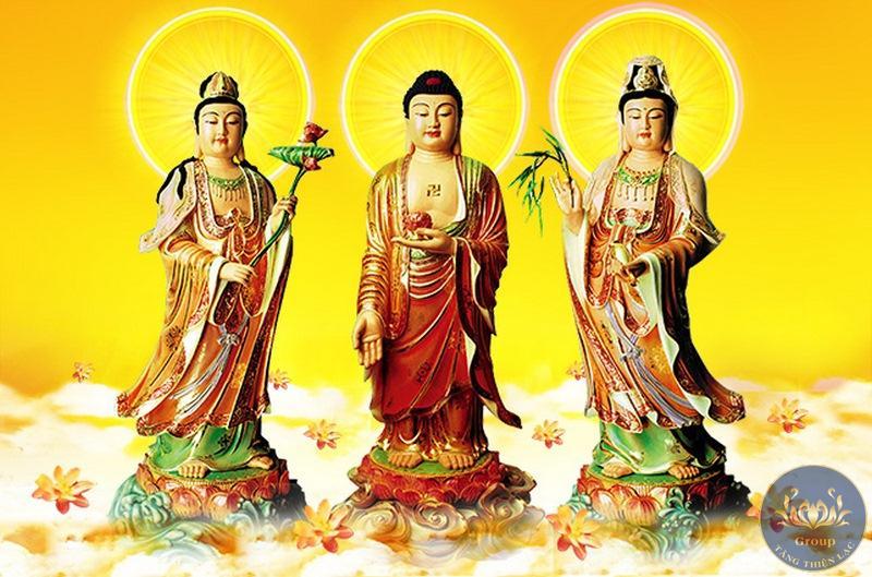 Tranh Phật A Di Đà cứu độ chúng sanh
