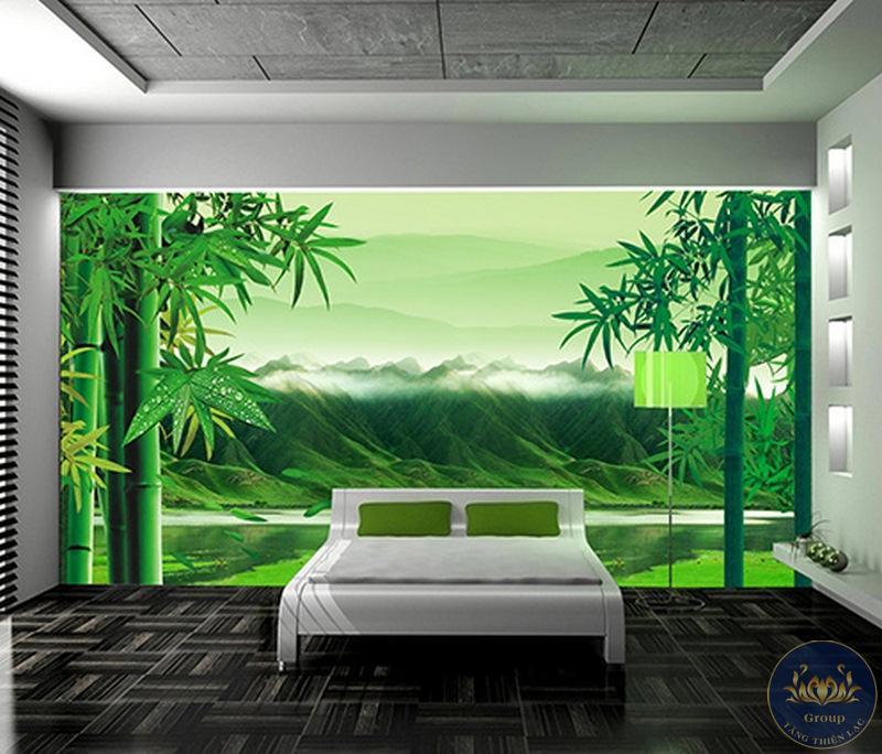 Tranh dán tường 3D cảnh thiên nhiên có cảm giác như tuần trăng mật