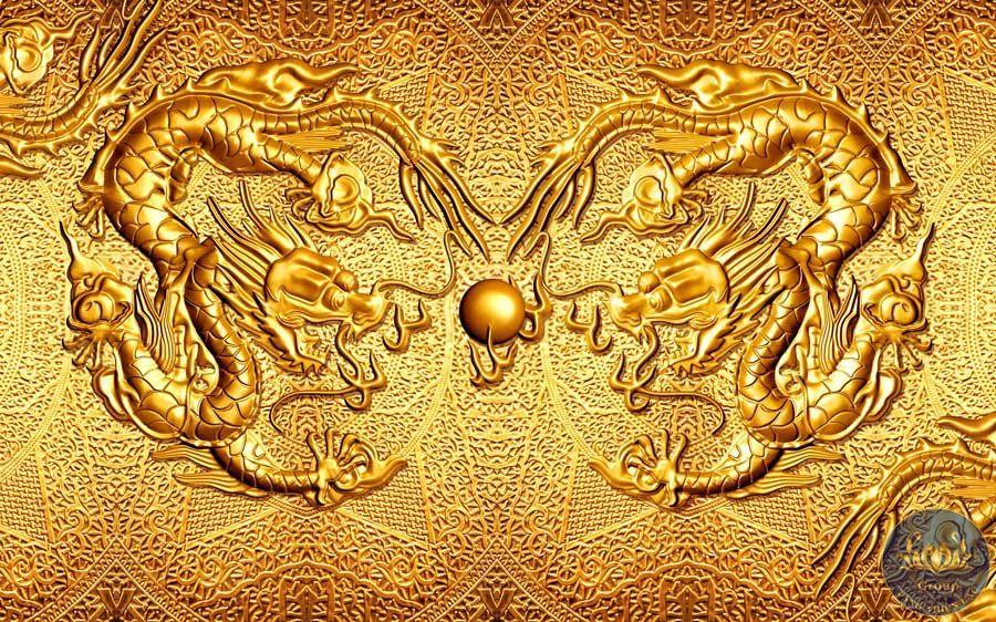 Tranh 3D rồng phung ngọc mang lại sự bình an cho gia chủ