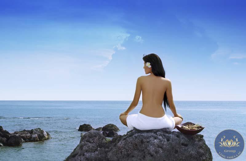 Tranh 3D spa cảnh biển để tạo cảm giác thư giãn cùng thiên nhiên