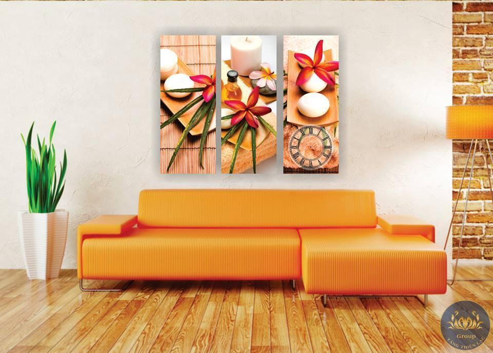 Tranh treo tường spa đồng hồ sẽ làm cho cảm giác hưởng thụ và thư giãn vô cùng thoải mái