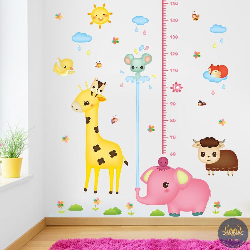 Tranh dán tường 3D thước đo chiều cao cho bé để theo dõi chiều cao mỗi ngày cho bé