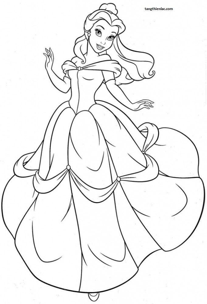 Tranh tô màu công chúa belle