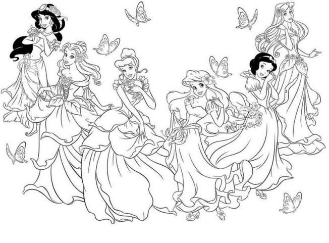 Tranh tô màu công chúadisney