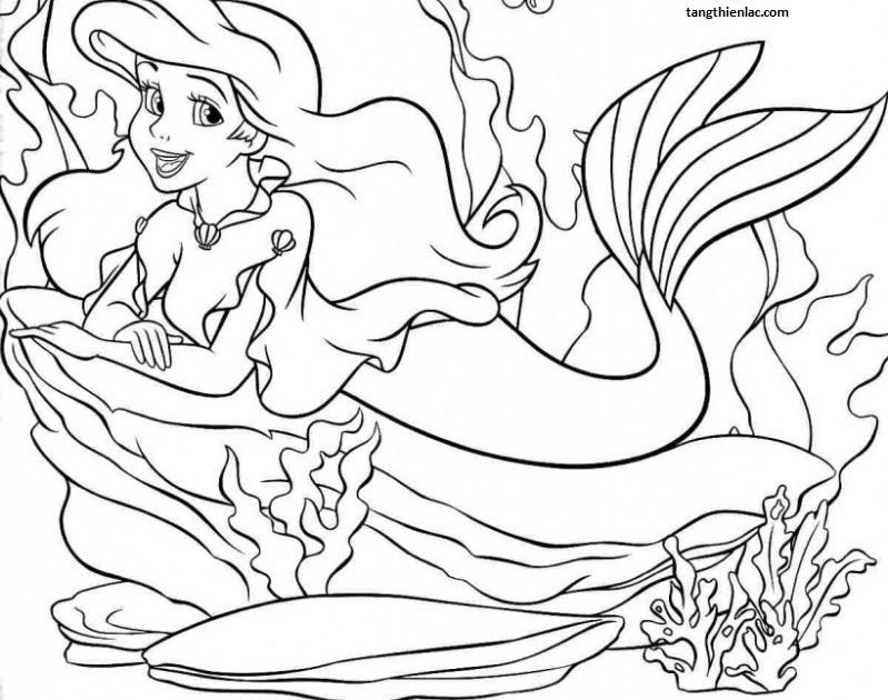 Tranh tô màu công chúa nàng tiên cá