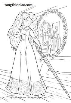 Tranh tô màu công chúa tóc xù