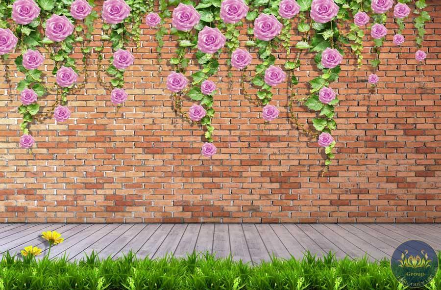 Tranh 3D gạch thẻ tường hoa làm cho không gian chắc chắn mang tính sáng tạo nhiều hơn