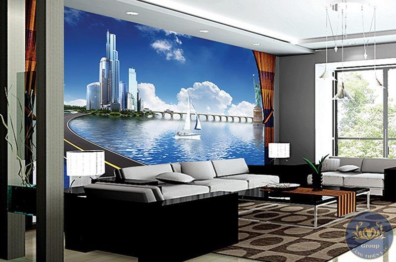 Tranh 3D dán tường văn phòng giám đốc sang trọng đón thành công