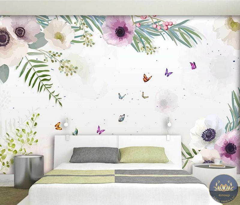 các thiết kế của tranh Hàn Quốc đều nhẹ nhàng nên vô cùng phù hợp với phòng ngủ
