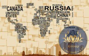 Tranh bản đồ thế giới dễ dàng vệ sinh, bền bỉ với thời gian