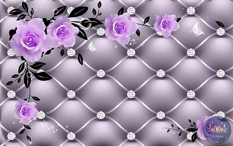 Hoa hồng tím thể hiện tình yêu thuỷ chung của mình với bạn đời