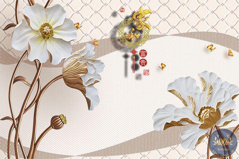 Nhiều mẫu tranh dán tường hoa sen đẹp mắt tại tăng thiện lạc