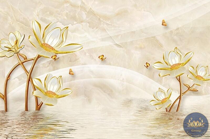 Tranh giả ngọc hình hoa sen