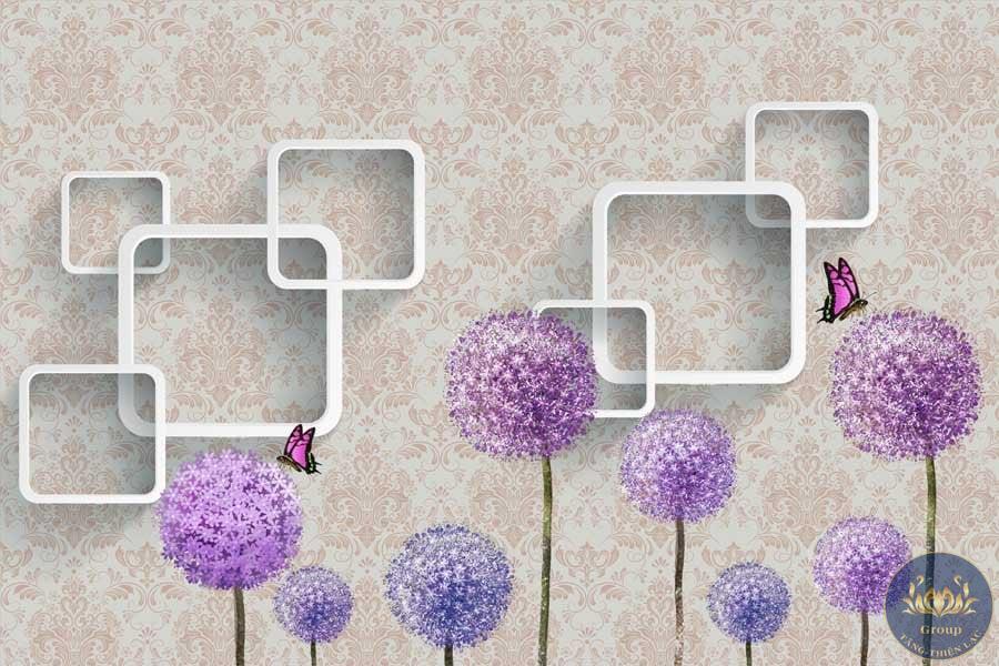 Tranh dán tường hoa bồ công anh đẹp