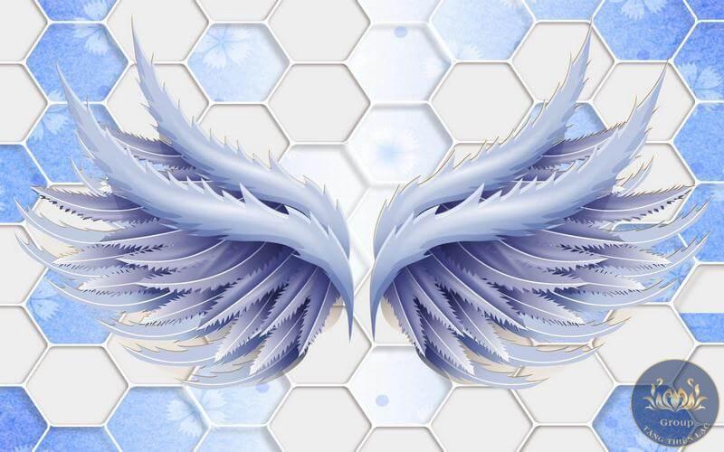 Tranh 3D đôi cánh thiên thần