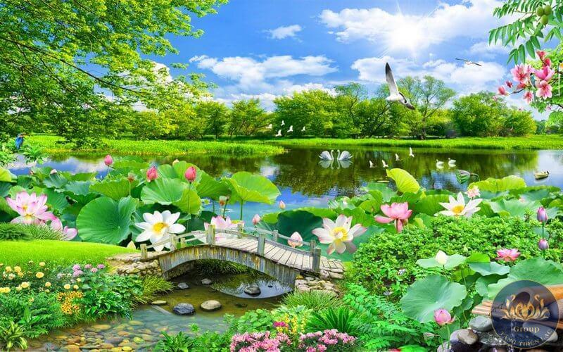 Tranh dán tường phong cảnh thiên nhiên