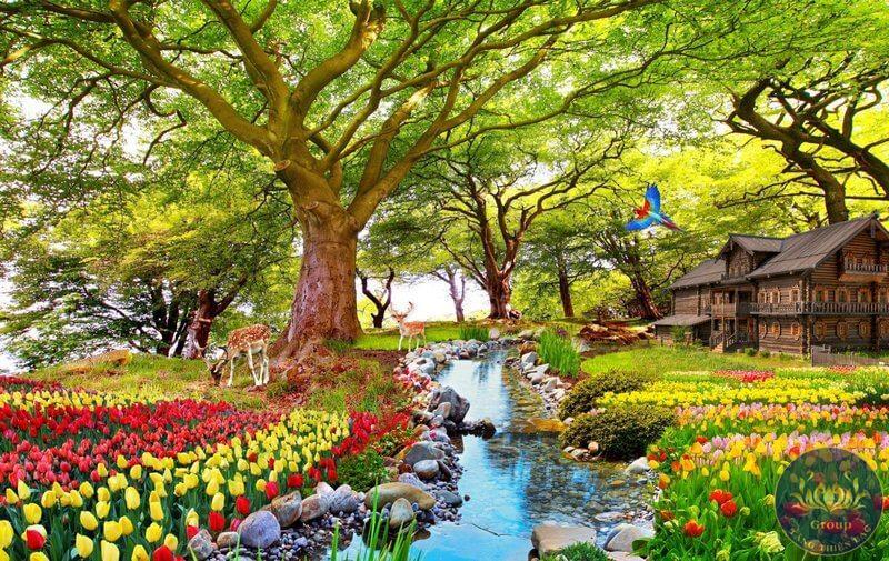 Tranh phong cảnh thiên nhiên tại quận 4