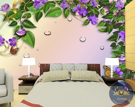 Đặc điểm của tranh dán tường đầu giường phòng ngủ