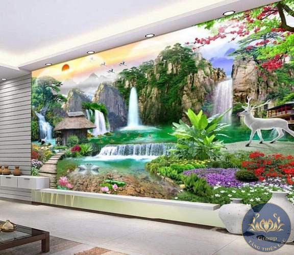 Tranh dán tường 3D cho phòng khách