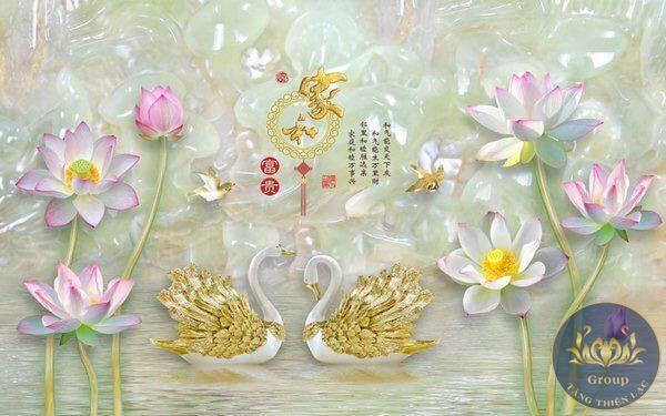 Mẫu tranh về hoa đẹp cho phòng khách