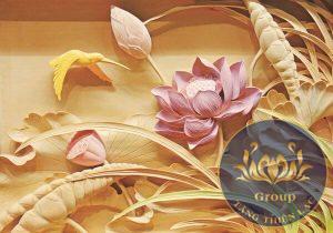 Tranh dán tường hoa sen Quận Bình Tân