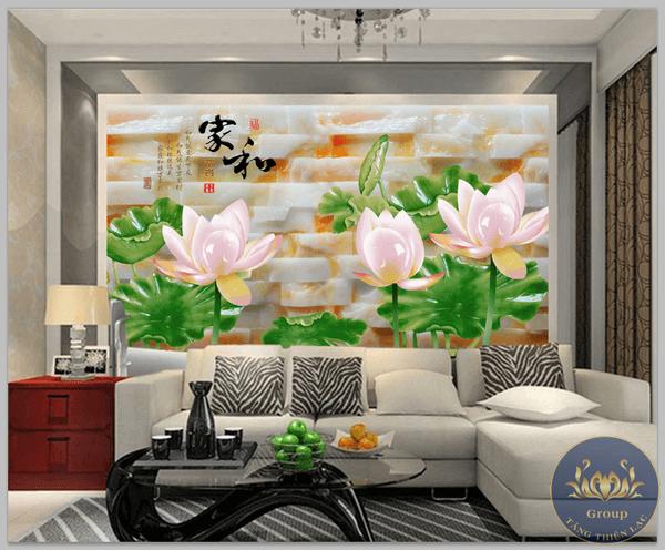 tranh dán tường hoa sen