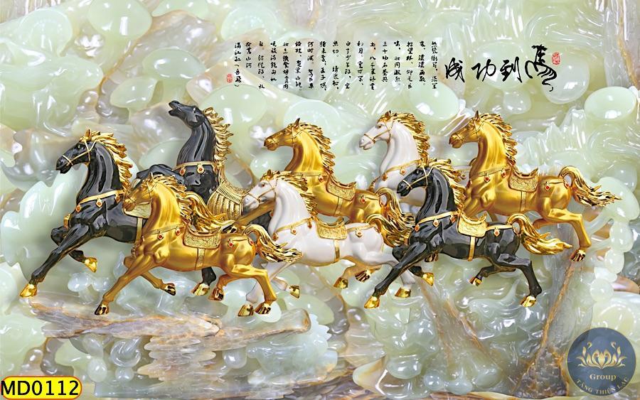 Tranh 5D ngựa đẹp tại Tăng Thiện Lạc