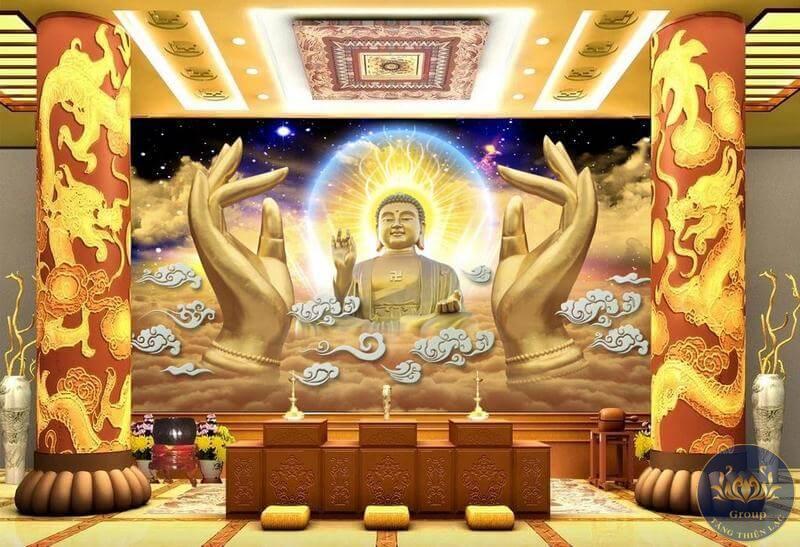 Tranh 3D 5D 8D Quận 12 phòng thờ tạo sự uy nghiêm, thành kính cho nơi thờ cúng