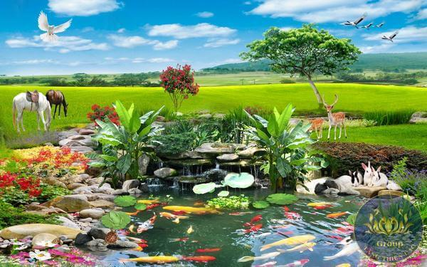 Tranh dán tường 3D Thiên nhiên Quận 11