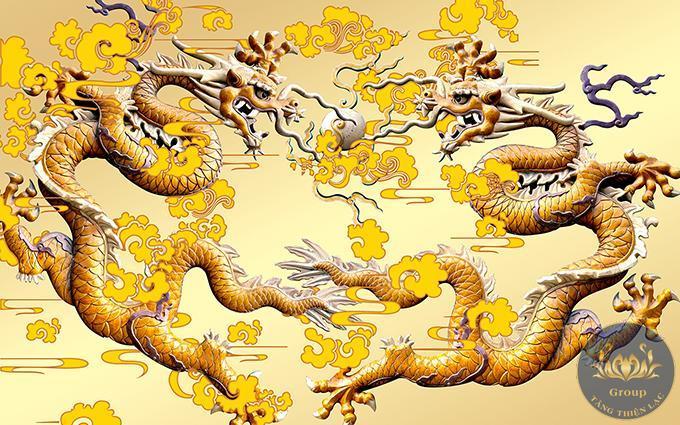 Tranh rồng vàng rất hợp với người mệnh Thổ