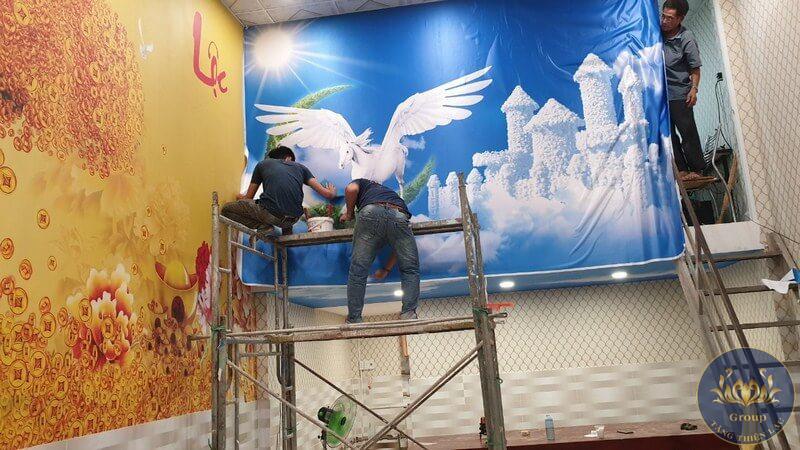 Hình 1: Tăng Thiện Lạc là đơn vị hàng đầu về thiết kế, thi công tranh dán tường