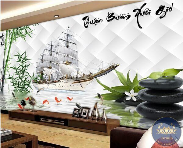 Các mẫu tranh dán tường phù hợp về phong thủy với gia chủ