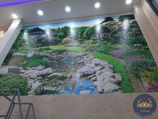 Tranh dán tường 3D thiên nhiên Nhật Bản